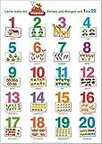 Fragenbär-Lernposter: Zahlen und Mengen von 1 bis 20.: Gerollt, matt folienbeschichtet, abwaschbar (Lerne mehr mit Fragenbär)