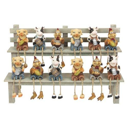 Mini Farm Animal Shelf Sitter, Miniature Collectible Figure, 4-inch (1-pc Random)