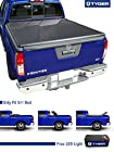TYGER Tri-Fold Pickup Tonneau Cover Fits 05-14 Nissan Frontier 5' (with/without utility track); 09-12 Suzuki Equator 5' Short Box Trifold Truck Cargo Bed Tonno Cover