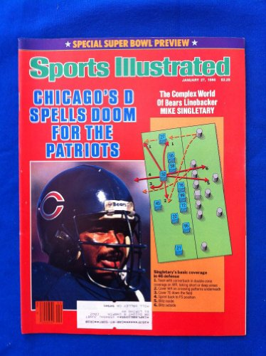 1986 Sports Illustrated January 27 Super Bowl Preview - Bears Vs Patriots Near-Mint
