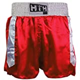 HIT 'EM HARD red white boxing short x large