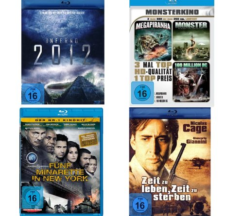 Spannung Pur Blu-ray Selection [4 Blu-rays - 8 Filme)]