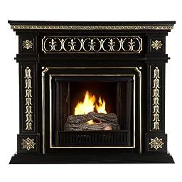 SEI AMZ1669G Donovan Gel Fuel Fireplace, Black