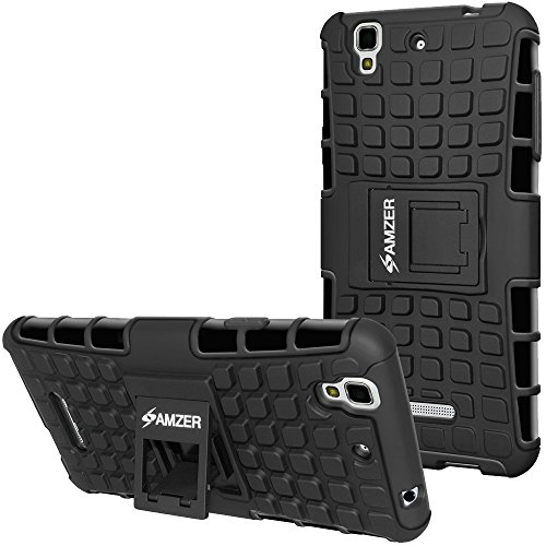 AMZER Rugged Hybrid Warrior Case Back Cover for Micromax YU Yureka Plus YU5510 (Impact & Shock Resistant)