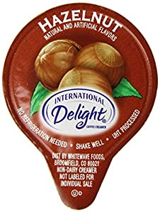 International Delight Hazelnut Liquid Creamer, 288-Count Single-Serve Packages