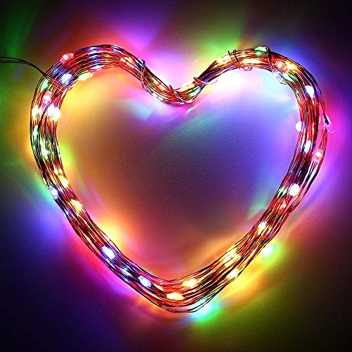 ICICLE Solar Christmas String Lights Rainbow Decorative, 120 Leds 20 Ft Waterproof Starry Copper Wire Fairy Lighting for Outdoor, Holiday, Garden, Yard, Xmas Tree (Multi Colored)