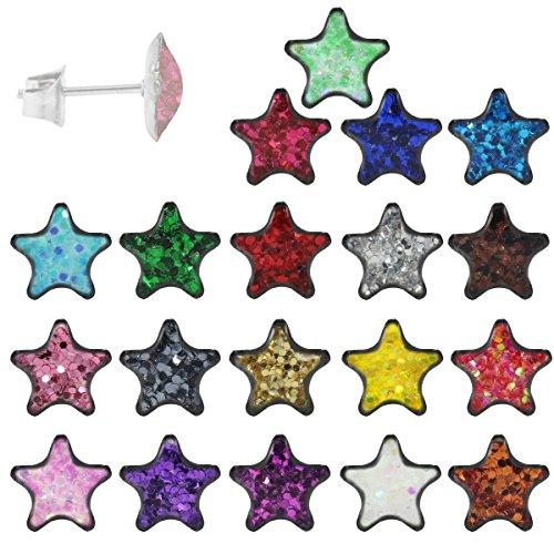 ohrstecker-316l-chirurgenstahl-glitzernder-stern-ohrringe-edelstahl-farbe-pink-aurora-borealis