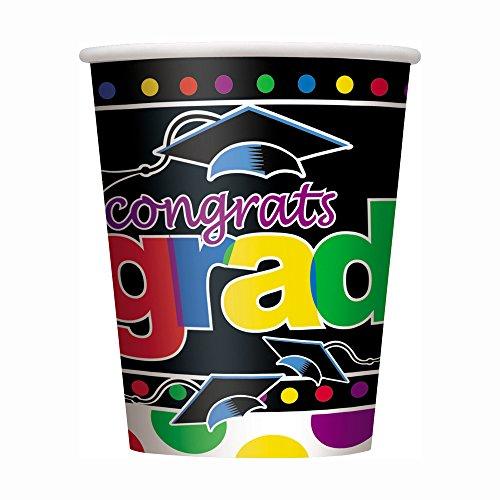 9oz Grad Spark Graduation Party Cups, 8ct