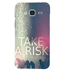 PRINTSHOPPII TAKE RISK Back Case Cover for Samsung Glaxy J3 New Edition (2016)