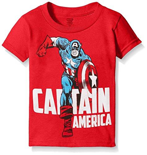 Marvel Boys' Toddler Boys' Captain America Running Short Sleeve T-Shirt, Red, 2T (Captain America T Shirt Toddler compare prices)