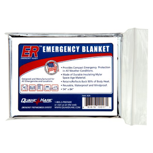 Quake Kare Emergency Thermal Blankets (4 Pack)