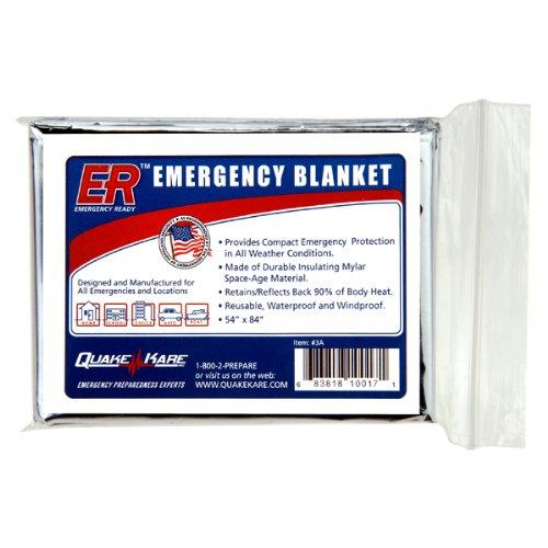 Quake Kare Emergency Thermal Blankets (4 Pack)