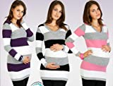 NEW Women's Maternity Jumper Extremely Soft Tunic Style V-Neck Jumper Sweater