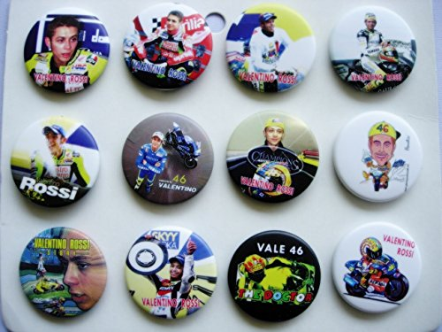VR46 Valentino Rossi THE DOCTOR badge - set of 12 pieces