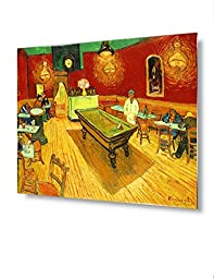 DecorArts - The Night Cafe in the Place Lamartine in Arles, Vincent Van Gogh Metal Artwork. Metal Prints for Wall Decor,20x16\