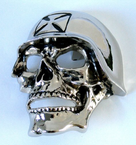 Originial Rock Rebel Helmet Chopper Skull Biker Punk Rock Metal Belt Buckle