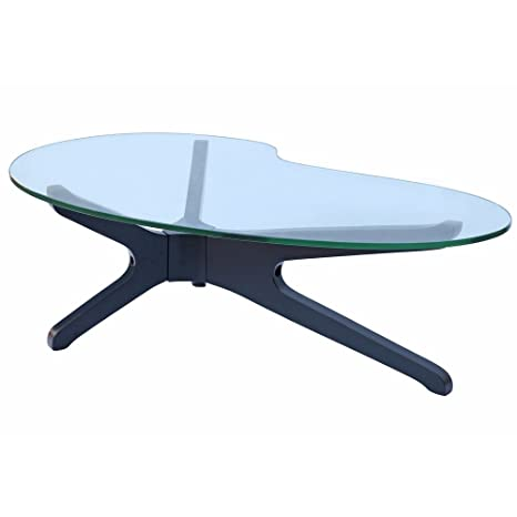 Designer Modern Sculpt Coffee Table Black Base