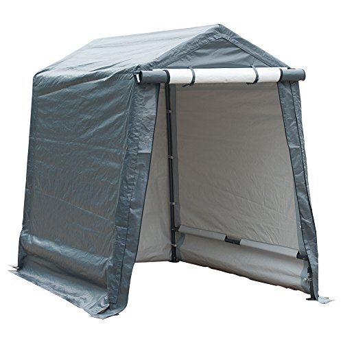 Abba Patio Storage Shelter 6 x 8- Feet Outdoor Shed Heavy Duty Canopy, Grey
