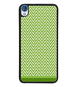 PrintDhaba Zig Zag Pattern D-1694 Back Case Cover for HTC DESIRE 820 (Multi-Coloured)
