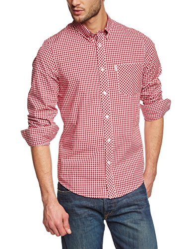 ben-sherman-ma10113-chemise-casual-coupe-droite-col-boutonne-manches-longues-homme-rouge-letterbox-r