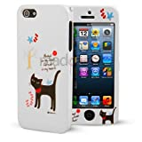 Madcase® Apple iPhone 5s 5 Ultra Thin Full Body Cute Series 2 piece case cover incl. Stylus Touch Pen - Cat always on my Mind