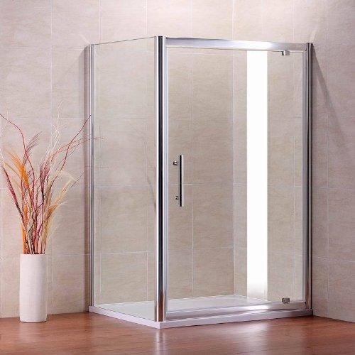 80x70cm Chrome Walk in Duschkabine Dusche Drehtür Duschtür Duschabtrennung & Seitenwand & Duschtasse (NS9-70+NS3-80+ASR7080)