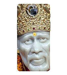 Sai Baba 3D Hard Polycarbonate Designer Back Case Cover for OnePlus 3 :: OnePlus Three