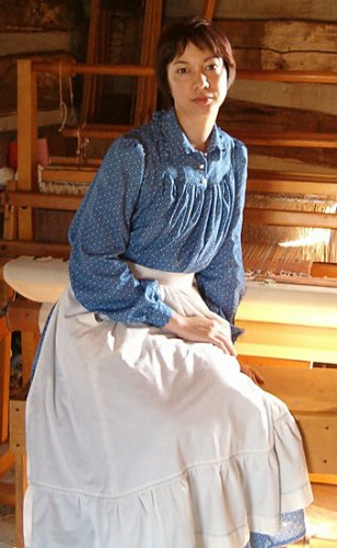 1800's American Prairie Dress Pattern - Harts Fabric - Online