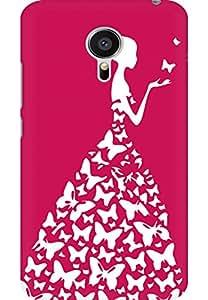 AMEZ designer printed 3d premium high quality back case cover for Meizu MX5 (dark prink white girl princess)