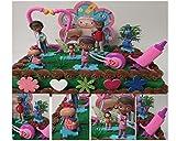 Disney DOC MCSTUFFINS 16 Piece Cake Topper Set Featuring Doc McStuffins, Stuffy, Hallie, Dr. Myiesha McStuffins, Marcus McStuffins and Frida Fairy, Themed Decorative Accessories, Figures Average 2 to 4 Tall