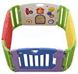 日本育児 ミュージカルキッズランド スクエア 6ヶ月~3歳半頃対象 5010010001 拡張しやすい四角型ベビーサークル