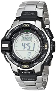 Casio Men's PRG270D-7CR Pro Trek Digital Display Japanese Quartz Silver Watch