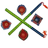 DakshCraft or Shimmer Terracotta Diya & Dandia Bois Sticks Combo...