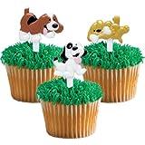 Puffy Puppy Dog Cupcake Picks - 24 ct