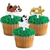 Puffy Puppy Dog Cupcake Picks - 24 ct