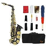 LADE セット Eb E-Flat アルトサックス サックス ブラス製 吹奏楽 練習用 本番にも 使い勝手はあなた次第!彫刻入りブラック