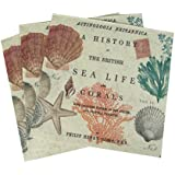 Paperproducts Design Sea Life Paper Beverage Cocktail Napkin, 5 by 5-Inch