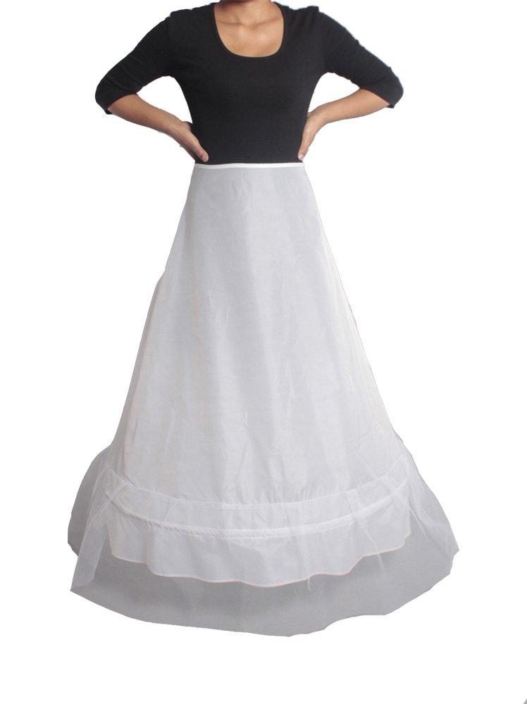 XYX Frauen-Hochzeits PetticoatUnderskirt Schlupf A LINE-1-Schicht WEISS XS-M Krinoline jetzt kaufen
