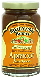 Kozlowski Farms Fruit Spread, Apricot, 10-Ounce (Pack of 6)