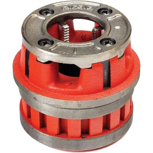 RIDGID 37405 Model 12-R Hand Threader Die Head, Alloy Right-Handed NPT Die Head for Nominal Pipe Size of 1-1/4-Inches (Color: Red, Tamaño: Small)