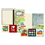 Simple Stories Urban Traveler 4x4 Quote & 6x8 Photo Mat 12x12 Paper