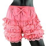リボン付き★ ドロワーズ かぼちゃパンツ 全10色 レースフリル付き スカートのボリュームアップ drawers-001