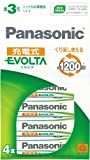 Panasonic EVOLTA ���綣������ ����宴�羂雁��紙� �� ( 4���) ����鴻���HHR-3MRS/4B