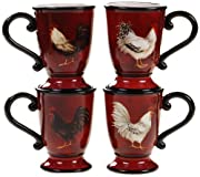 Certified International Avignon Rooster Mug, 16-Ounce, Set of 4