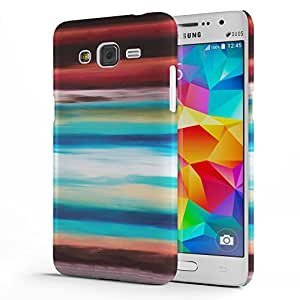 Koveru Designer Printed Protective Snap-On Durable Plastic Back Shell Case Cover for Samsung Galaxy GRAND Prime - Horizontal Lines