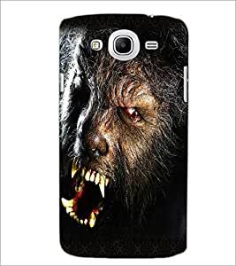 PrintDhaba Beast D-5018 Back Case Cover for SAMSUNG GALAXY MEGA 5.8 (Multi-Coloured)