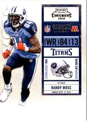 2010 Playoff Contenders Football Card IN SCREWDOWN CASE #55 Randy Moss Mint