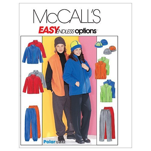 mccalls-patterns-m3402-misses-mens-and-teen-boys-jacket-vest-pull-on-pants-and-reversible-hat-size-z