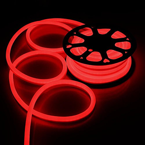 50ft 110V Flex LED Neon Rope Light Indoor Outdoor Holiday Party Valentine Decoration Lighting Red (Led Flex Lights compare prices)