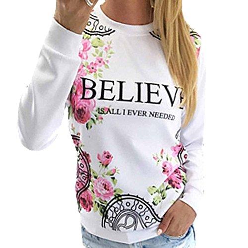 Creer-Tops-De-Manga-Larga-De-La-Camiseta-Ocasional-De-Base-Blanca-Florales-Impresa-Mujeres-Frescas
